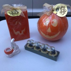 Halloween Candles and Holder